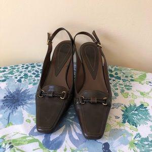 Bandolino Brown Slingback Heel